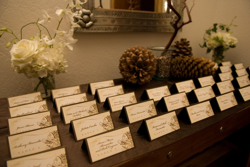Invitations & More Photos - Sophisticated Brown Escort Cards ...