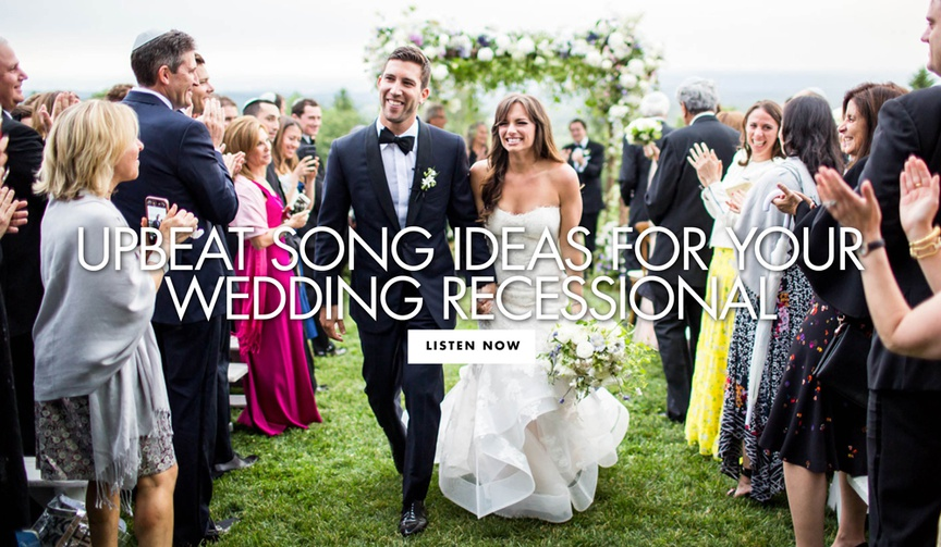 upbeat song ideas for your wedding recessional ceremony music