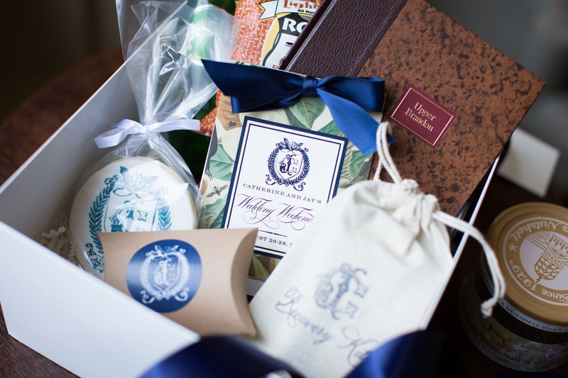 Favors Gifts Photos Southern Wedding Welcome Box Inside Weddings