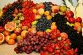 Cornucopia of fruit at wedding reception