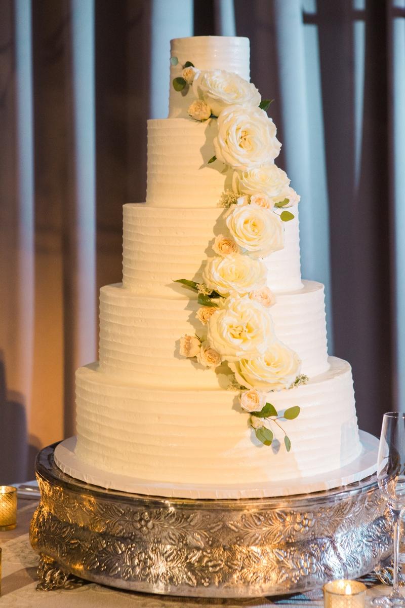 Cakes & Desserts Photos - Five Tiers of Elegance - Inside Weddings