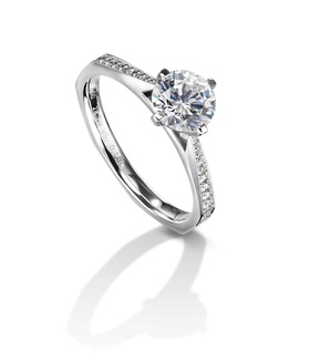 Furrer Jacot 53-66711-5-W white gold engagement ring