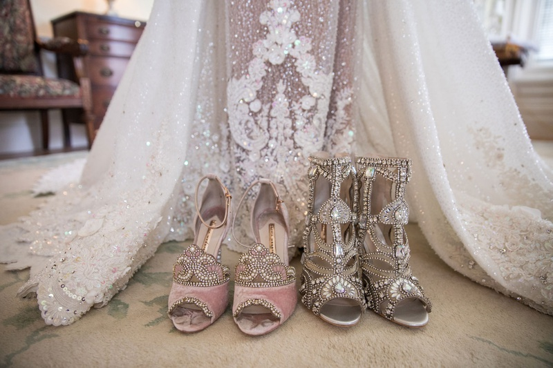 christian louboutin and sophia webster shoes with haute couture dress ghana african royal wedding