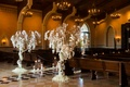 Trees wrapped with orchids, dripping with jewels, pearls, and orchids, framed the aisle