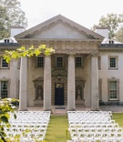 Atlanta History Center historic wedding venue with columns in Catching Fire Hunger Games movie white