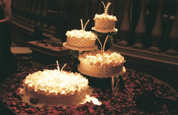 French Baskets four layer wedding cake