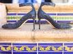 sparkling blue bridal heels shoes girly southern california wedding la valencia hotel spanish