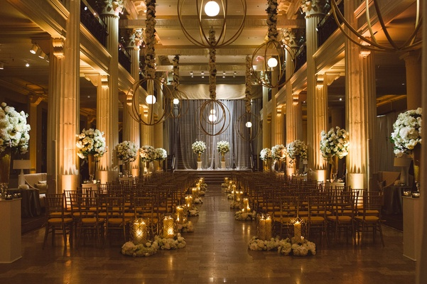 Indoor wedding of Owen Daniels and Angela Mecca