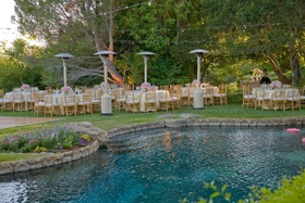 Jeff Bridges' family pool and backyard