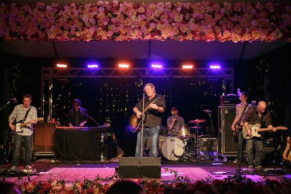 Grammy-Nominated country music artist Pat Green performs at ranch wedding reception