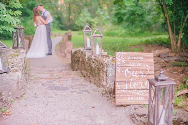 wooden ceremony signage white calligraphy wedding sign celtic wedding