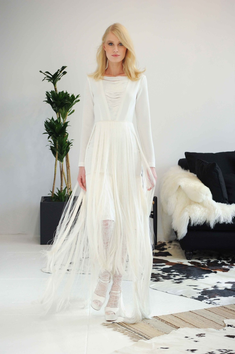 Unusual wedding dresses with sleeves