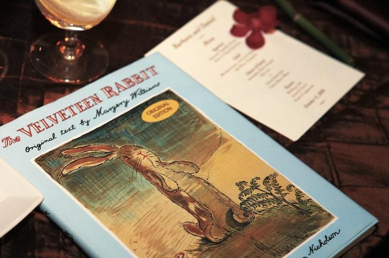 The Velveteen Rabbit book at ceremony altar