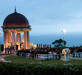 Cliffside Jewish wedding in Newport Beach