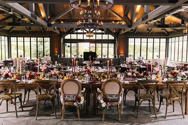 Baroque Autumn Wedding With Deep Wine Tones In North