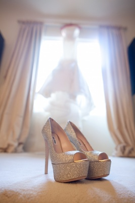 Miu Miu peep-toe platform pumps in bridal suite