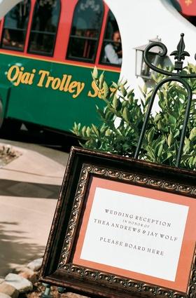 Ojai trolley wedding shuttle and transportation