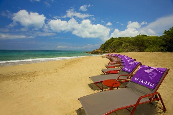 Beach chairs at W Retreat & Spa, Vieques Island.