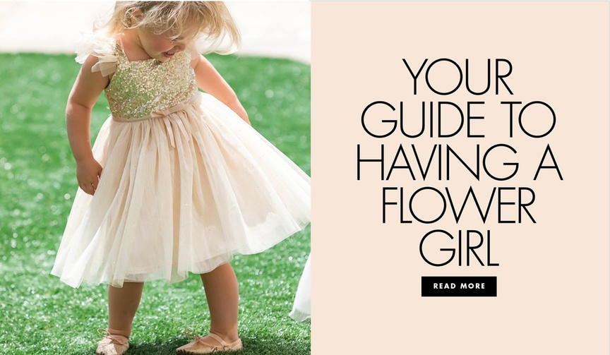 etiquette tips to having a flower girl, how to have a flower girl in your wedding