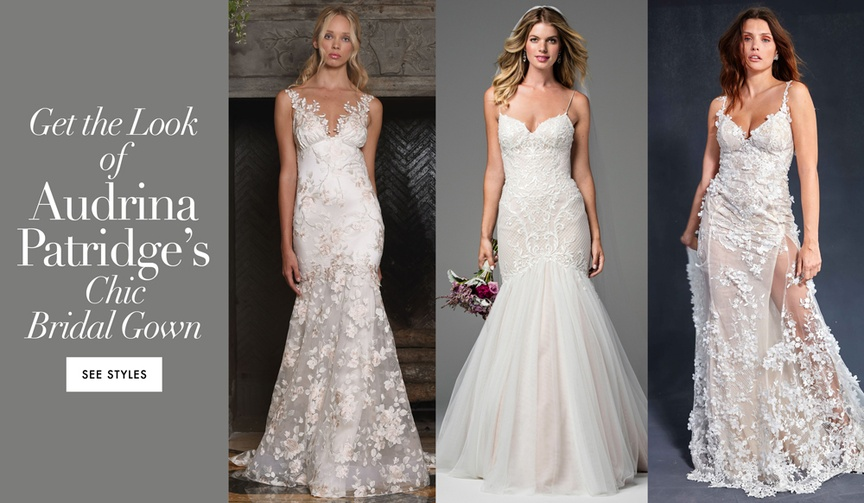 Get the look of Audrina Patridge's chic bridal gown wedding dress