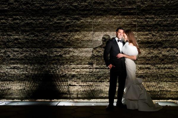 Chad Carroll and Jennifer Stone on wedding day