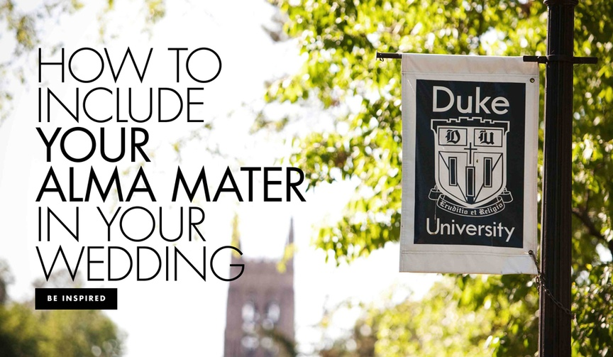 how to include your college in your wedding