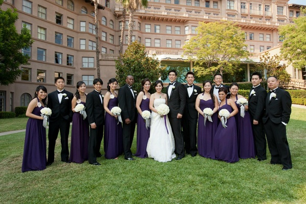 Modern Purple Gold Hollywood Themed Wedding Inside Weddings