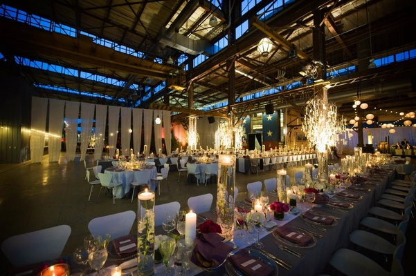 Wedding reception at the former Philadelphia Navy Yard