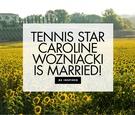 Tennis Star Caroline Wozniacki and NBA player David Lee are married serena williams bridesmaid