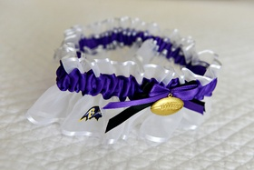 Bride's Baltimore Ravens garter
