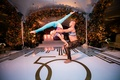 acrobatic dancers with contortionist at wedding reception 50th anniversary party