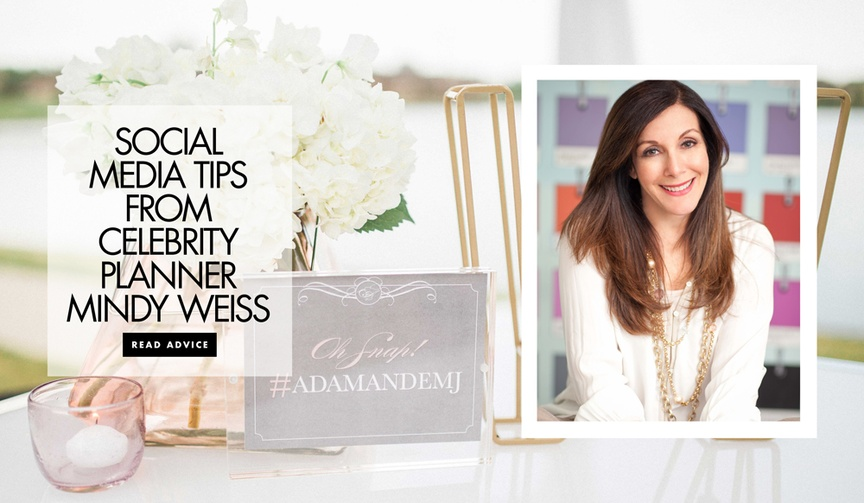 tips on social media weddings celebrity event planner mindy weiss the wedding book bible