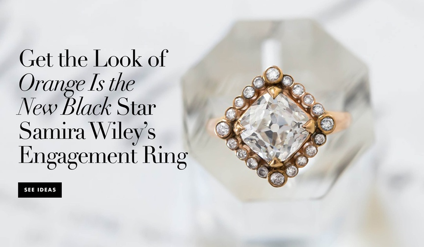 Get the look of Orange Is the New Black actress Samira Wiley's engagement ring from Lauren Morelli