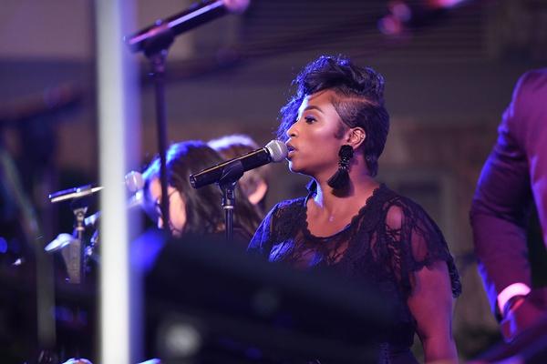 wedding reception entertainment gold coast events chicago singer performing black tassel earrings