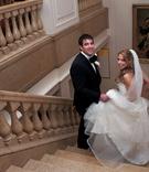 Anya Sarre stylist and husband on wedding day