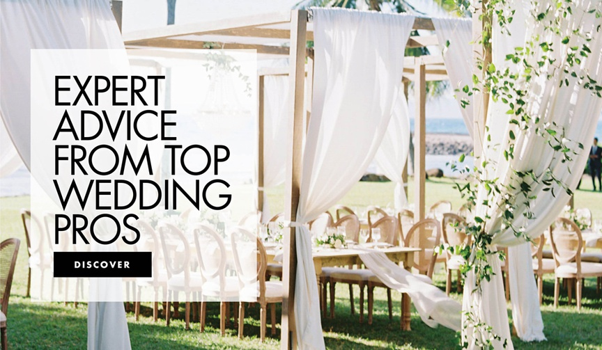 get expert wedding advice from top wedding professionals planners photographers