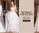 bridal fashion week: Monique Lhuillier Spring 2019