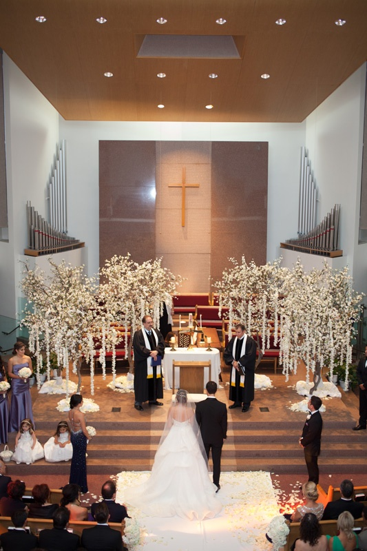 Ceremony dcor photos armenian church ceremony with tree dcor bride and groom standing at altar of armenian church for wedding ceremony with trees junglespirit Image collections
