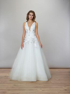 Liancarlo Spring 2020 bridal collection wedding dress spring garden v neck ball gown drop waist