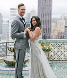 Wedding portrait for Lets Get Lexi YouTuber Alexis Cozombolidis and baseball player Hunter Pence