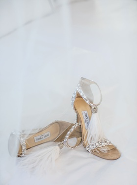 Jimmy Choo wedding shoes feather crystal design VIOLA 110 design