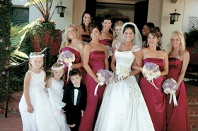 Flower girls and ring bearer with bridal party