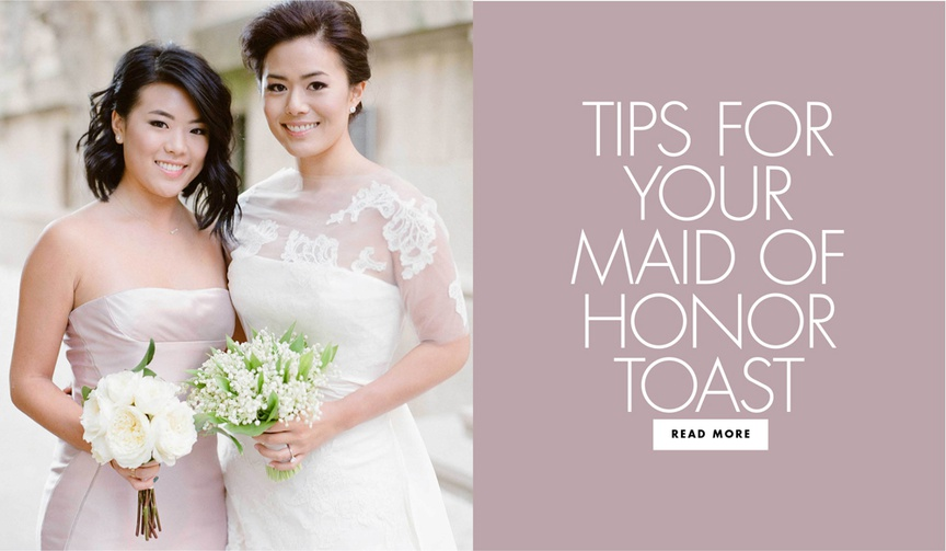 tips for your maid of honor toast wedding speech advice