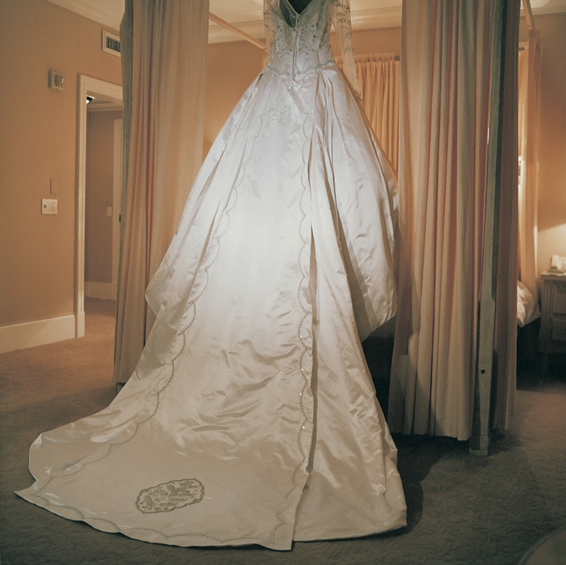 Custom Reem Acra wedding dress
