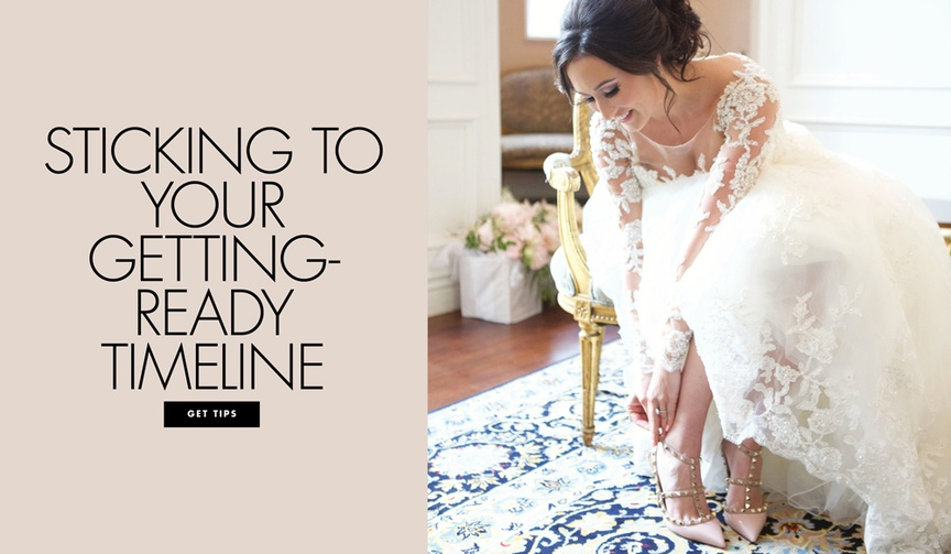 wedding getting-ready timeline, how t avoid being late to your wedding