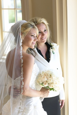 Dena Beber and her mom in bridal suite
