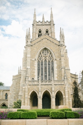 bryn athyn cathedral wedding ceremony, gothic cathedral