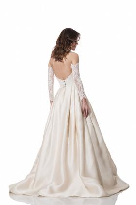 Low back Clara gown with Anya sleeves by Olia Zavozina Fall 2016