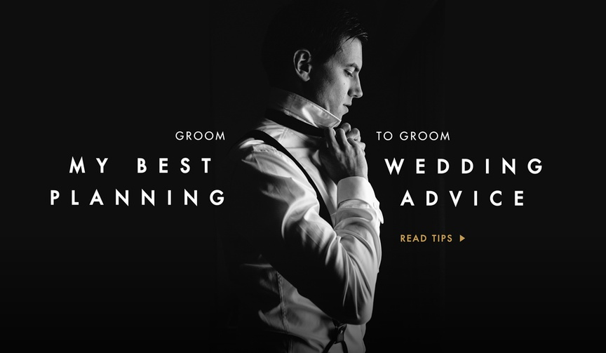 Advice to grooms from grooms on wedding planning.