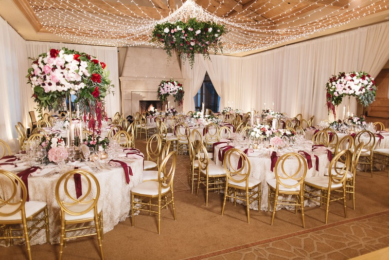 Reception Décor Photos - Indoor Reception Space, Ivory, Red, Blush ...
